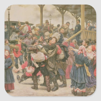 Departing for the War, 1888 Square Sticker