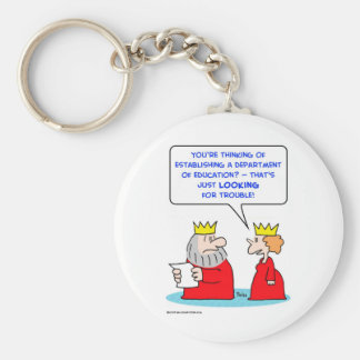 department education looking trouble keychain