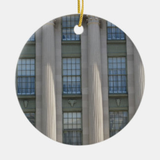 Department of Agriculture Double-Sided Ceramic Round Christmas Ornament