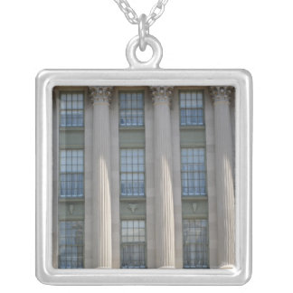 Department of Agriculture Square Pendant Necklace