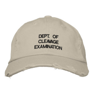 Department of Cleavage Examination Embroidered Baseball Cap