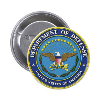 Department of Defense 2 Inch Round Button