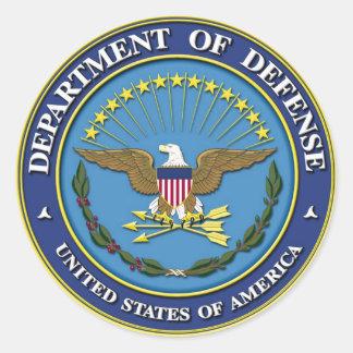 Department of Defense Classic Round Sticker
