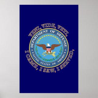 Department of Defense DOD VVV Shield Posters