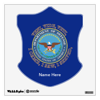 Department of Defense DOD VVV Shield Wall Decal