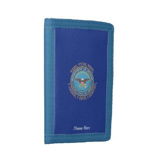 Department of Defense DOD VVV Shield Tri-fold Wallet