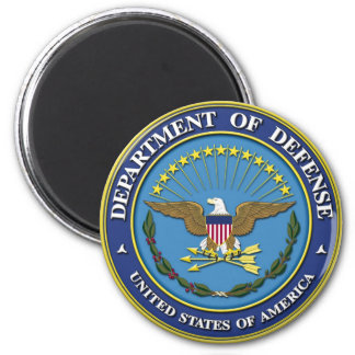Department of Defense 2 Inch Round Magnet
