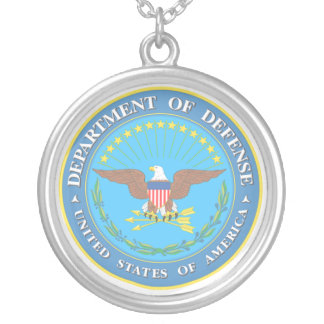 Department of Defense Silver Plated Necklace