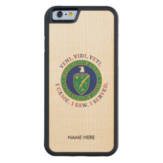 Department of Energy DOE VVV Shield Carved Maple iPhone 6 Bumper Case