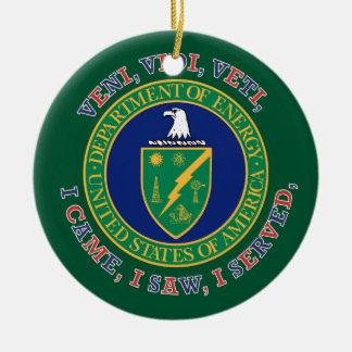 Department of Energy DOE VVV Shield Ceramic Ornament