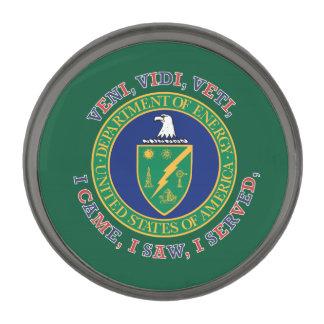 Department of Energy DOE VVV Shield Gunmetal Finish Lapel Pin