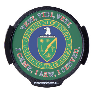 Department of Energy DOE VVV Shield LED Car Decal