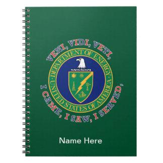Department of Energy DOE VVV Shield Notebook