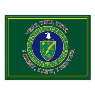 Department of Energy DOE VVV Shield Postcard