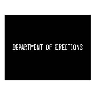 Department of Erections Postcard