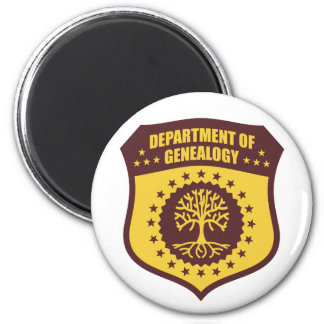 Department Of Genealogy 2 Inch Round Magnet