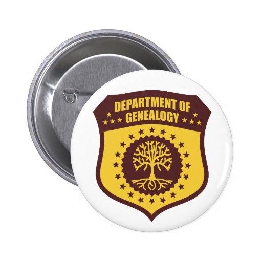 Department Of Genealogy Buttons