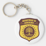 Department Of Genealogy Keychain