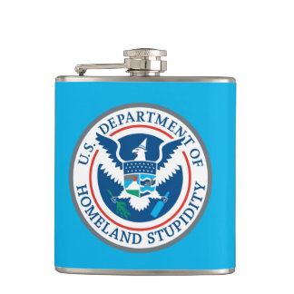 Department of Homeland Stupidity Flask