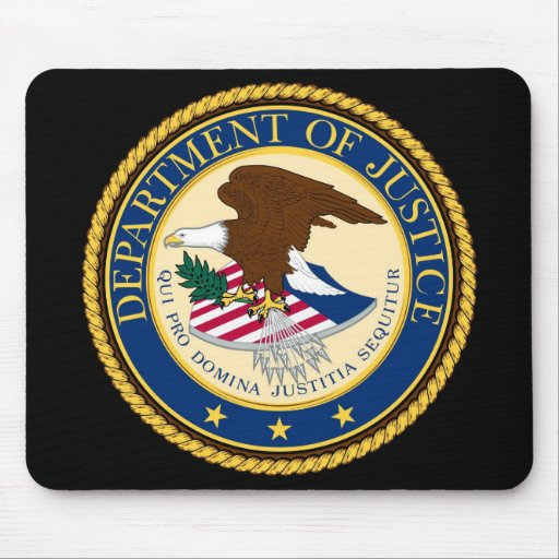 Department OF Justice Mousepads