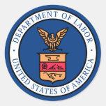 Department of Labor Classic Round Sticker