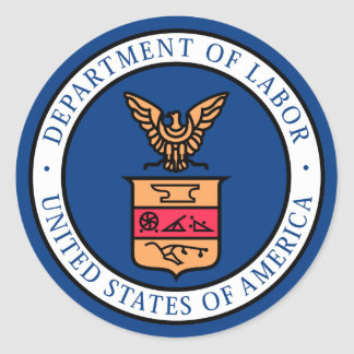 Department of Labor Classic Round Sticker