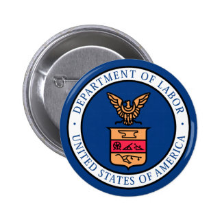 Department of Labor Pinback Button