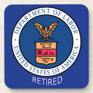Department of Labor Retired Beverage Coaster