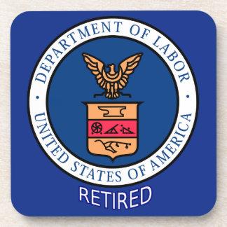Department of Labor Retired Beverage Coaster