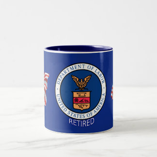Department of Labor Retired Two-Tone Coffee Mug