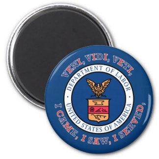 DEPARTMENT OF LABOR VVV Shield 2 Inch Round Magnet