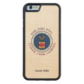 DEPARTMENT OF LABOR VVV Shield Carved® Maple iPhone 6 Bumper Case