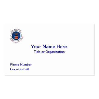 DEPARTMENT OF LABOR VVV Shield Double-Sided Standard Business Cards (Pack Of 100)
