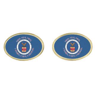 DEPARTMENT OF LABOR VVV Shield Gold Finish Cuff Links
