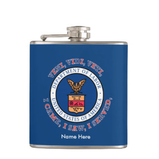 DEPARTMENT OF LABOR VVV Shield Hip Flask
