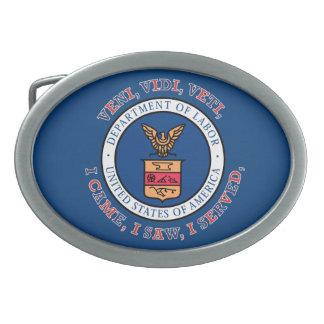 DEPARTMENT OF LABOR VVV Shield Oval Belt Buckles