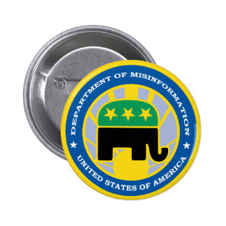 Department of Misinformation Pinback Button