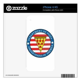 Department of Pizza Skin For iPhone 4