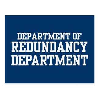 Department of Redundancy Department Postcard