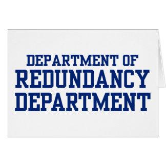 department of redundancy greeting card