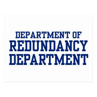 department of redundancy postcard