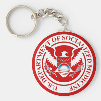 Department of Socialized Medicine Basic Round Button Keychain