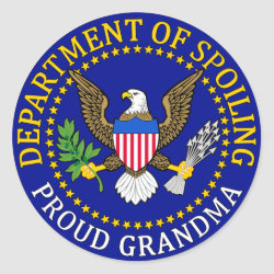 Official Grandma Seal Round Sticker