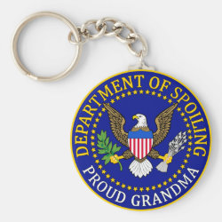 Basic Button Keychain with Official Grandma Seal design