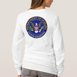 Women's Basic Long Sleeve T-Shirt with Official Grandma Seal design