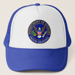 Trucker Hat with Official Grandma Seal design