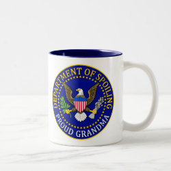 Two-Tone Mug with Official Grandma Seal design