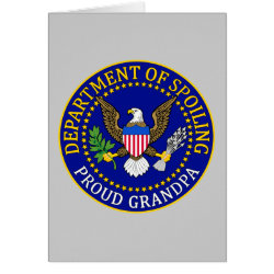 Greeting Card with Official Grandpa Seal design