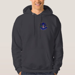 Men's Basic Hooded Sweatshirt with Official Grandpa Seal design