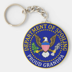 Basic Button Keychain with Official Grandpa Seal design